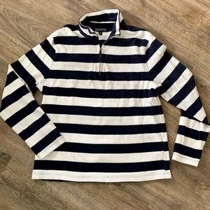 J. Crew Mercantile 3/4 Zip Striped Sweatshirt Sz M